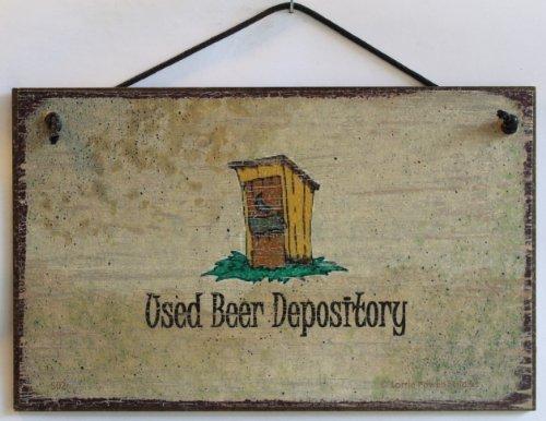 5x 8Schild Vintage Style Sagen,Bier Depository Dekorative Fun Universal Haushalts-Zeichen von Egbert 's Treasures (Antike Bier Zeichen)