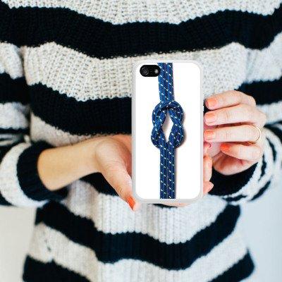 Apple iPhone 5s Housse Étui Protection Coque N½ud marin Corde Faire du bateau à voile Housse en silicone blanc