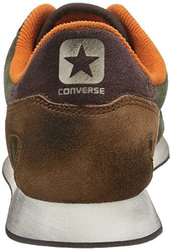 Converse, Auckland Racer Ox Suede Metalp Sneaker,Unisex Adulto Dark Thyme/Dark Brown