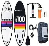 WOWSEA Tabla Hinchable Paddle Surf/Sup Paddel Surf con Inflador, Mochila, Remo,...