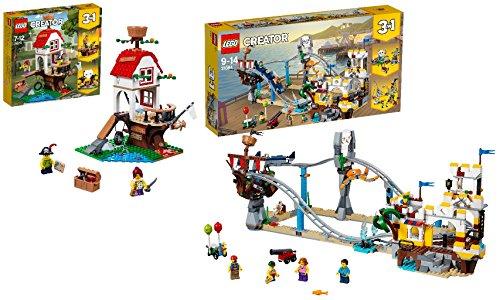 Steinchenwelt LEGO Creator 2er Set: 31078 Baumhausschätze + 31084 Piraten-Achterbahn