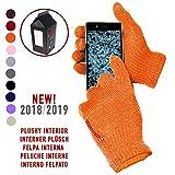 AXELENS Touch Screen Handschuhe beständige Winter Tops mit Fleece-Innenseite - Unisex - Für Smartphones, Telefone & Tablets - Geschenkpapier inklusive! - ORANGE