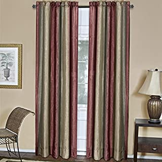 Achim Home Furnishings Ombre Window Panel, 50-Inch by 84-Inch, Burgundy