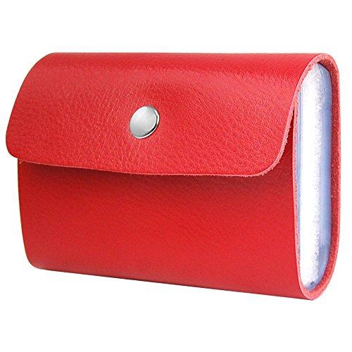 trixes-portafoglio-porta-carte-di-credito-in-soffice-finta-pelle-rossa-con-26-tasche-trasparenti