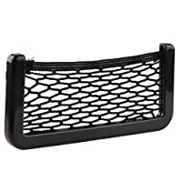 BRLIGE Car Seat Side Back Storage Net Bag Phone Holder Pocket Car Mesh Sundries Storage Box 26