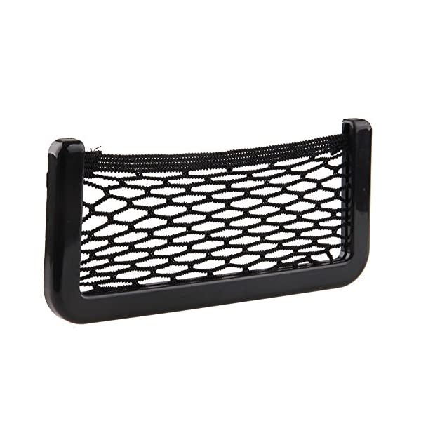 BRLIGE Car Seat Side Back Storage Net Bag Phone Holder Pocket Car Mesh Sundries Storage Box 1