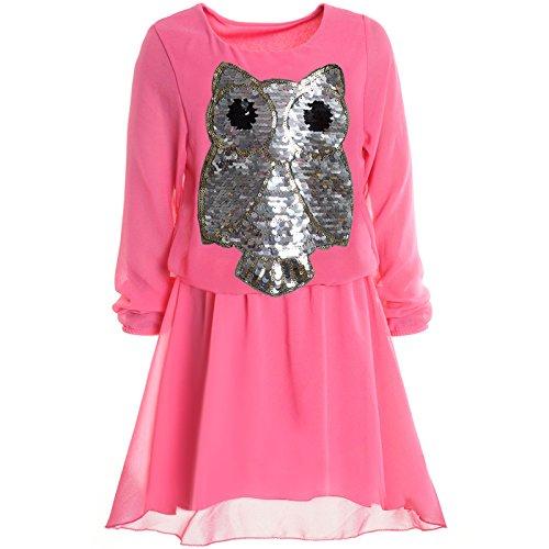 (BEZLIT Mädchen Kinder Spitze Frühlings Kleid Peticoat Festkleid Lang Arm Kostüm 20997 Pink Größe 152)