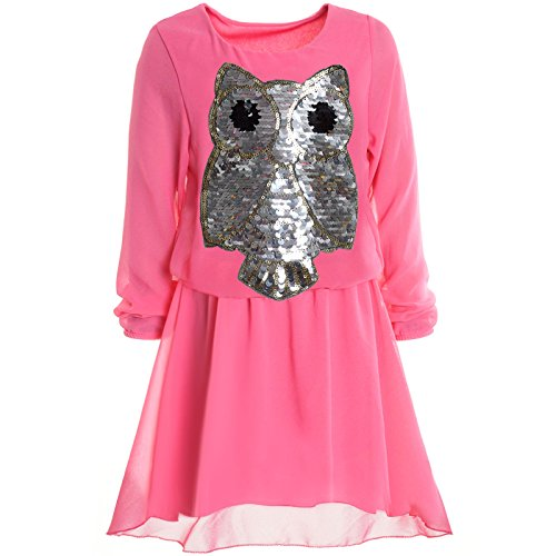 BEZLIT Mädchen Kinder Spitze Frühlings Kleid Peticoat Festkleid Lang Arm Kostüm 20997 Pink Größe 128 (Das Arme Mädchen Kostüm)