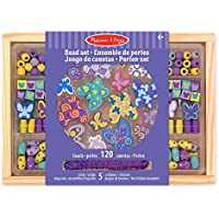 Melissa & Doug Butterfly Friends Bead Set With Bonus Colouring Book