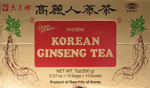 Prince of Peace Korean Ginseng Tea(instant) 0.07 Oz X 10 Bags X 10 Boxes  available at amazon for Rs.1755