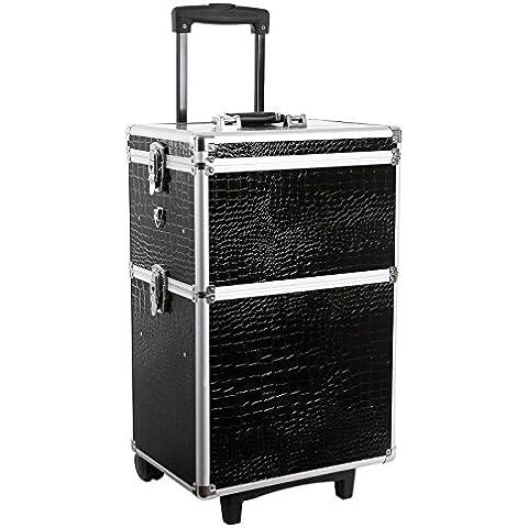 Songmics? beauty case maleta multiusos tipo trolley Malet¨ªn para maquillaje Estuche de maquillaje