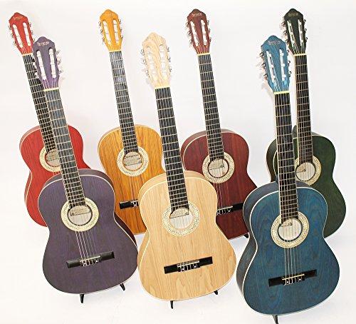 4/4Concert e chitarre classiche M1020, disponibile in diversi colori