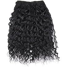 "Extensiones sintéticas del pelo humano Color natural de la armadura rizada del pelo de la onda rizada por JZEE Beauty (AIRE PROFUNDO 20 "")"