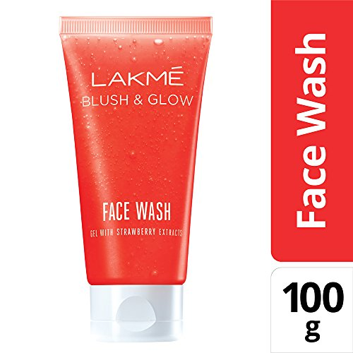 Lakme Blush and Glow Strawberry Gel Face Wash, 100g