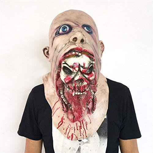 AMSIXP Maske Latex Zombie Halloween Maske Schmelzen Horror Kostüm Tot Beängstigend Kopf Masken Blutig