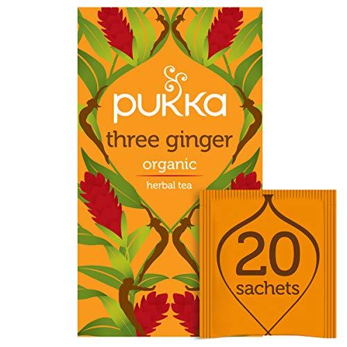 Pukka Three Ginger Herbal Tea, 20 sachets
