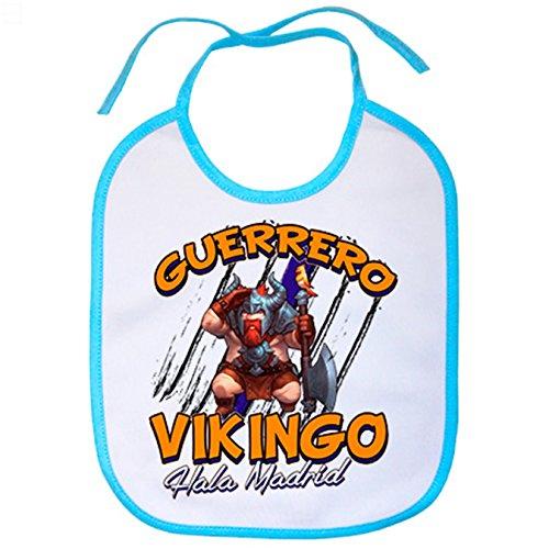 Babero Real Madrid Guerrero Vikingo Hala Madrid - Celeste