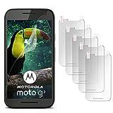 5X Motorola Moto G3 | Schutzfolie Matt Display Schutz [Anti-Reflex] Screen Protector Fingerprint Handy-Folie Matte Displayschutz-Folie für Motorola Moto G 3. Generation Displayfolie
