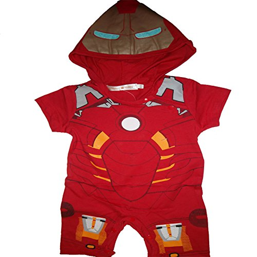 Comic Marvel Kostüme Fancy Dress (Inspired by Marvel Comics Baby Jungen (0-24 Monate) Spieler rot 18-24)