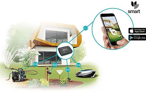GARDENA 19060-60 smart SILENO Mähroboter, Vernetzung des Rasenmähers per smart Gateway mit dem Smartphone, Gardena smart App für iOS und Android erhältlich, Rasenroboter für Flächen bis 1000m², Steigungen bis zu 35%, mit 60 dB(A) besonders leise -