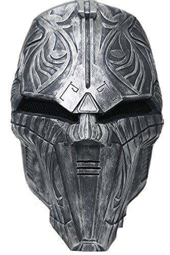 Film Maske Cosplay Kostüm Replica Zubehör Helm Prop Halloween Für Herren Erwachsener Verrücktes Kleid (Verrückte Star Wars Kostüme)