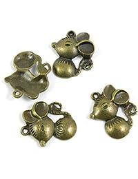 45852388eeca Abalorios de joyería en tono bronce antiguo 028002 para manualidades con  ratas y ratones antique bronze