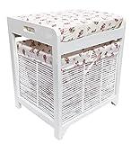 Bianco Corridoio Soggiorno Dressing Table panchina sgabello sedile imbottito + bagagli carrello