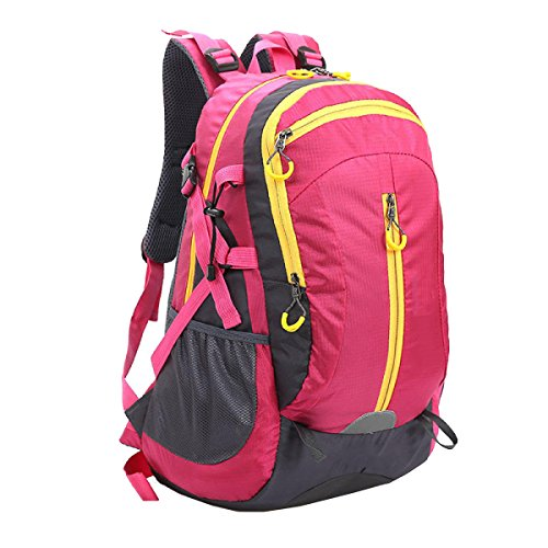Yy.f Tasche Rucksäcke Wandern Tagesrucksack Ultra-light Outdoor-Reisen Camping Reiten Rucksack Wasserdichter Wanderrucksack. Multicolor Pink