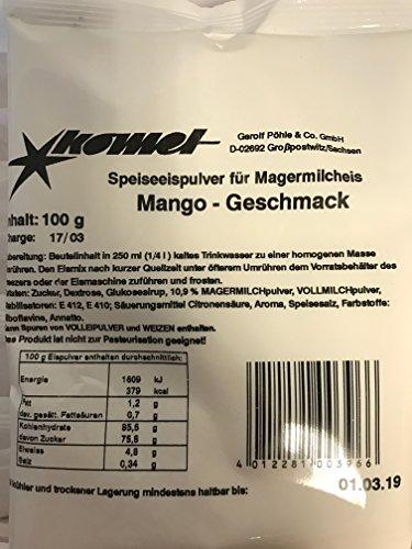 Komet NEU Mango 2x100g Eispulver Softeispulver Speiseeispulver Eismaschine Preis pro 1Kg = 13,45€