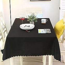 WENJUN Espesar Color Sólido Hotel Mantel Restaurante Rectángulo Negro Mantel Tela Mesa De Café Fondo Blanco Mantel Mantelete De Una Sola Vez Reunirse Varios Tamaños