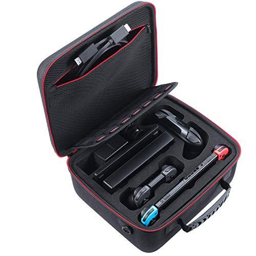 REFURBISHHOUSEHarte Tragetasche Kompatibel Mit Nintendo Switch System, Reise Koffer Passt Switch Pro Controller