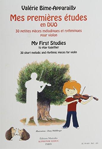 Mes premières études en duo pour violon