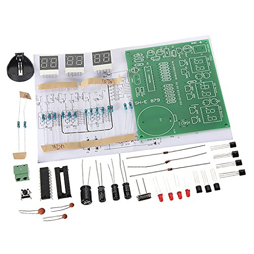 Sharplace DIY PCB Platine Digitale LED Elektronische Uhr Kits Set 6 Digit