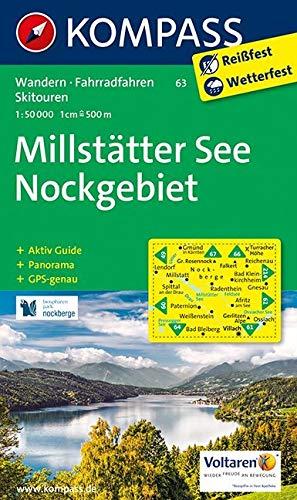Carta escursionistica n. 63. Millstätter See, Nockgebiet 1:50.000: Wandelkaart 1:50 000 di KOMPASS