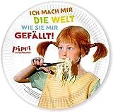 PIPPI LANGSTRUMPF - DER FILM 8 Teller Party und Kindergeburtstag // Geburtstag Party Fete Set Mottoparty Pappteller Plates Astrid Lindgren