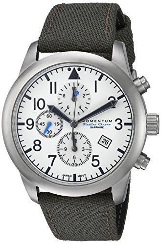 Momentum Men's Analog Japanese-Quartz Watch with Canvas Strap 1M-SN34LS6G