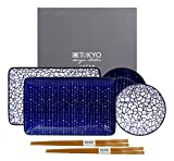 TOKYO design studio, Le Bleu de Nimes, Sushi Set, 6teilig. 2 Sushi Platten, 2...