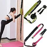 Nosii Mehrzweck-Taillen-Übungsband für Tanz-Yoga und Gymnastik Training Fitness Splits Beinpresse Brace Stretch Gürtel mit Aufbewahrungstasche (Color : Green+Black)