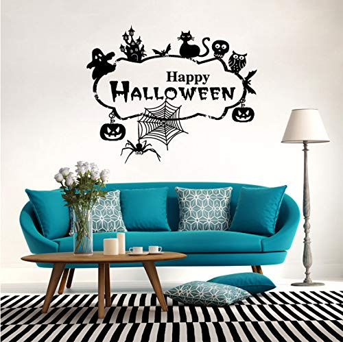 Zller2587 Wandaufkleber Abnehmbare Halloween Party Dekoration Ladentür Glas Fenster Poster Tapete Aufkleber 58 * 71 cm