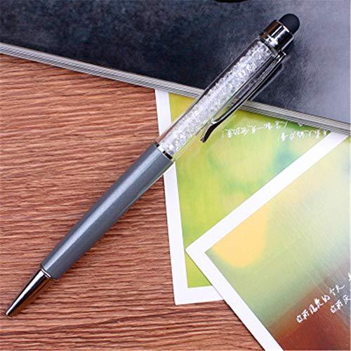 Packung mit 10 Crystal Diamond Pen Kugelschreiber Büro Schule Schreibwaren 14,5 x 1,0 cm (1,0) -