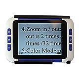 Loupe électronique portable Loupe grossissante électronique Loupe de lecture avec plusieurs modes de couleur (3.5 pouces)