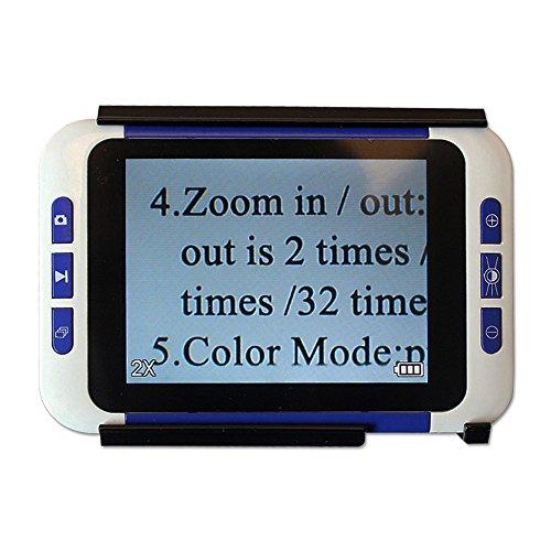 Eyoyo Handportable Video Digital Magnifier Elektronische Lesehilfe Leselupen mit Sprachaufforderung Funktion (3.5 Zoll)