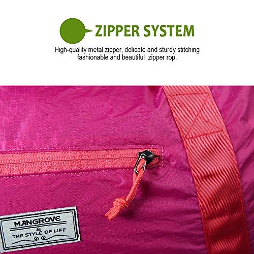 Mangrove Sporttasche Ultraleicht Reisetasche Fitness Tasche Matchbag 53cm 46L Medium in Kompaktgröße für Umkleidespinde Purple