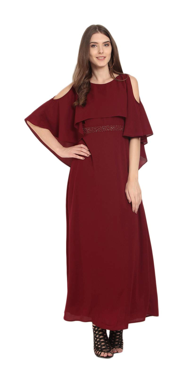 Marie Claire Women's Dress Maroon