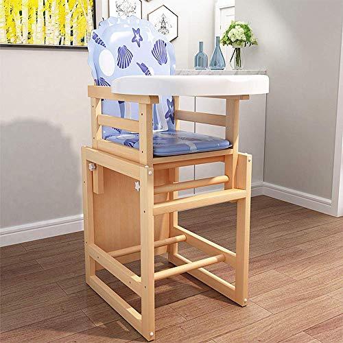 1 Holz-hochstuhl (JGWJJ 2-in-1-Hochstuhl aus Holz, Kinder-Aktivitäts-Tisch, Baby-Safe, der Stuhl speist, kann in Hocker und Tische unterteilt Werden (Farbe : Style B))