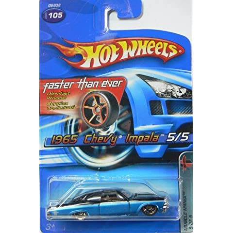 Hot Wheels 2005 1965 Chevy Impala, Muscle Mania 5 of 5, #105 Faster Than Ever by Hot Wheels