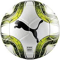 Puma Final 3 Tournament Size 4 (FIFA Quality) Balón de Fútbol, Puma White-Lemon Tonic-Puma Black, 4