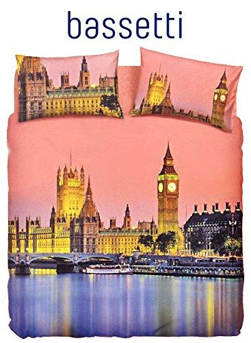 Bassetti Pictures Parure de lit set de Housse de Couette 2 personnes LONDRES