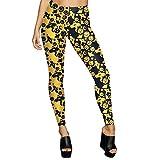 Pantalons, Malloom Athlétiques femme à imprimé numérique Leggings Pantalons athlétiques (XL, B)