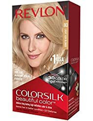 Revlon Coloration permanente Colorsilk Beautiful Color - Couleur radieuse longue tenue - Couleur 80 Blond cendré...